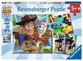Toy Story 4, 3x49pc Pussel;Barnpussel - Ravensburger