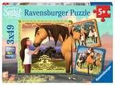 Dreamworks Spirit 3x49pc Puslespil;Puslespil for børn - Ravensburger