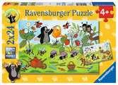 KRECIK W OGRODZIE 2X24P Puzzle;Puzzle dla dzieci - Ravensburger