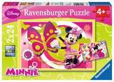 Puzzle 2x24 p - Une journée avec Minnie Puzzle;Puzzle enfant - Ravensburger