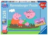 Puzzles 2x24 p - La vie de famille / Peppa Pig Puzzle;Puzzle enfant - Ravensburger