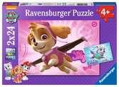 Paw Patrol, Skye and Everest 2x24pc Puslespil;Puslespil for børn - Ravensburger