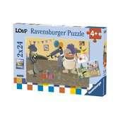 Puzzles 2x24 p - Le Loup qui fêtait son anniversaire Puzzle;Puzzle enfant - Ravensburger