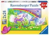 KONIE Z TĘCZĄ 2X24P Puzzle;Puzzle dla dzieci - Ravensburger