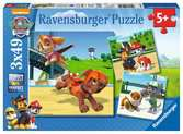 Puzzle 3x49 p - L'équipe des 4 pattes / Pat Patrouille Puzzle;Puzzle enfant - Ravensburger