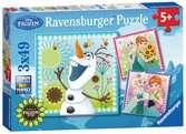 FROZEN - GORĄCZKA LODU 3X49EL Puzzle;Puzzle dla dzieci - Ravensburger