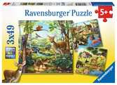 Forest/Zoo/Domestic Animals Puslespil;Puslespil for børn - Ravensburger