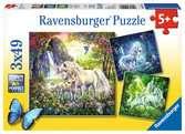 PIĘKNE JEDNOROŻCE 3X49 Puzzle;Puzzle dla dzieci - Ravensburger