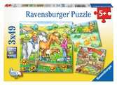 ZWIRZĘTA NA FARMIE PUZZLE 3X49 Puzzle;Puzzle dla dzieci - Ravensburger