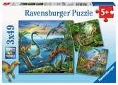 Puzzles 3x49 p - La fascination des dinosaures Puzzle;Puzzle enfant - Ravensburger