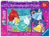 Disney Princess 3x49pc Puslespil;Puslespil for børn - Ravensburger