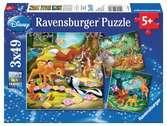 Bambi, Baloe en Simba Puzzels;Puzzels voor kinderen - Ravensburger