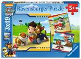 Tlapková Patrola: Chlupatí hrdinové 3x49 dílků 2D Puzzle;Dětské puzzle - Ravensburger