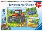 MASZYNY NA FARMIE 3X49 Puzzle;Puzzle dla dzieci - Ravensburger