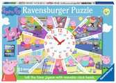Ravensburger Peppa Pig - Tell the Time Clock Puzzle, 60pc Jigsaw Puzzle Puzzles;Children s Puzzles - Ravensburger