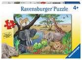 Safari zvířata 60 dílků 2D Puzzle;Dětské puzzle - Ravensburger