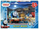 Ravensburger Thomas & Friends Glow in the Dark 60 piece Giant Floor Jigsaw Puzzle for Kids age 4 years and up Puzzles;Children s Puzzles - Ravensburger