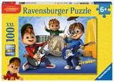 ALVIN, SIMON, TEODOR 100EL Puzzle;Puzzle dla dzieci - Ravensburger