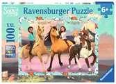 Puzzle 100 p XXL - Lucky et ses amies / Spirit Puzzle;Puzzles enfants - Ravensburger