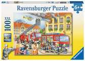 Puzzle 100 p XXL - Nos pompiers Puzzle;Puzzle enfant - Ravensburger