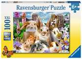 Ravensburger Rabbit Selfies 100 piece Jigsaw Puzzle with Extra Large Pieces for Kids age 6 years and up Puzzles;Children s Puzzles - Ravensburger