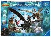 Puzzle 100 p XXL - Le monde caché / Dragons 3 Puzzle;Puzzle enfant - Ravensburger