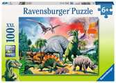 Puzzle 100 p XXL - Au milieu des dinosaures Puzzle;Puzzle enfant - Ravensburger