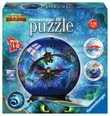 Puzzle-Ball Jak vycvičit draka 3 72 dílků 3D Puzzle;Puzzleball - Ravensburger