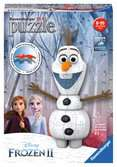 Frozen 2, Olaf Shaped 3D Puzzle, 54pc 3D Puzzle®;Former - Ravensburger