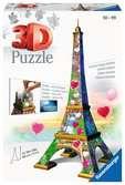 Eiffelturm Love Edition 3D Puzzle;3D Puzzle-Bauwerke - Ravensburger