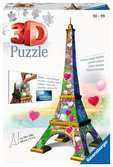 Eiffeltoren Love Edition 3D puzzels;3D Puzzle Gebouwen - Ravensburger
