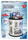 Stojan na tužky - kresba Prahy, 54 dílků 3D Puzzle;Zvláštní tvary - Ravensburger
