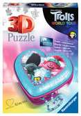 Trolls 2 World Tour, Heart Shaped 3D Puzzle, 54pc 3D Puzzle®;Shaped 3D Puzzle® - Ravensburger