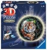Puzzle 3D Ball 72 p illuminé - Les grands félins Puzzle 3D;Puzzles 3D Ronds - Ravensburger