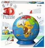 Puzzle-Ball Malovaný globus 72 dílků 3D Puzzle;Puzzleball - Ravensburger