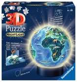 Earth by Night, 72pcs 3D Nightlight Jigsaw Puzzle 3D Puzzle®;Pusselboll - Ravensburger