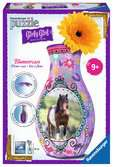Vase chevaux - Girly Girl Puzzle 3D;Puzzle 3D rond - Ravensburger