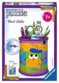 Funky Owls Pencil Holder 3D Puzzle®, 54pc 3D Puzzle®;Shaped 3D Puzzle® - Ravensburger