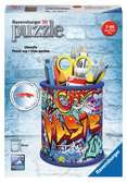 Graffiti Pencil Pot 3D Puzzle®, 54pc 3D Puzzle®;Shaped 3D Puzzle® - Ravensburger