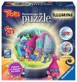 Trolls Puzzle 3D;Puzzle 3D rond - Ravensburger