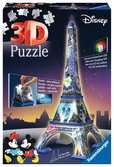 Eiffel Tower Disney at night Paris  3D Puzzle, 216pc 3D Puzzle®;Night Edition - Ravensburger