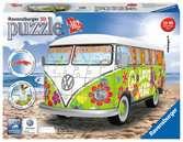 Volkswagen T1 - Hippie Style 3D Puzzle;3D Puzzle-Autos - Ravensburger