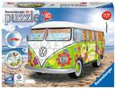 VW Camper Van Woodstock 50th Anniversary 3D Puzzle 3D Puzzle®;Former - Ravensburger