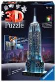 EMPIRE STATE B. NOCĄ 3D 216 EL 14 Puzzle 3D;Night Edition - Ravensburger