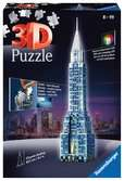 Chrysler Building - Night Edition Puzzle 3D;Puzzle 3D building - Ravensburger