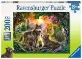 RODZINA WILKÓW W SŁOŃCU 200EL XXL Puzzle;Puzzle dla dzieci - Ravensburger
