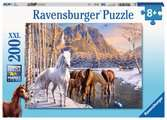 Ravensburger Winter Horses 200 piece Jigsaw Puzzle with Extra Large Pieces for Kids age 8 years and up Puzzles;Children s Puzzles - Ravensburger