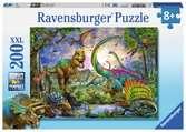 Puzzle 200 p XXL - Le royaume des dinosaures Puzzle;Puzzle enfant - Ravensburger