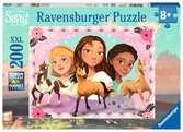Puzzle 200 p XXL - Aventures avec Lucky / Spirit Puzzle;Puzzles enfants - Ravensburger