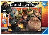 DRAGONS HICKS, ASTRID I SMOKI 200 E Puzzle;Puzzle dla dzieci - Ravensburger
